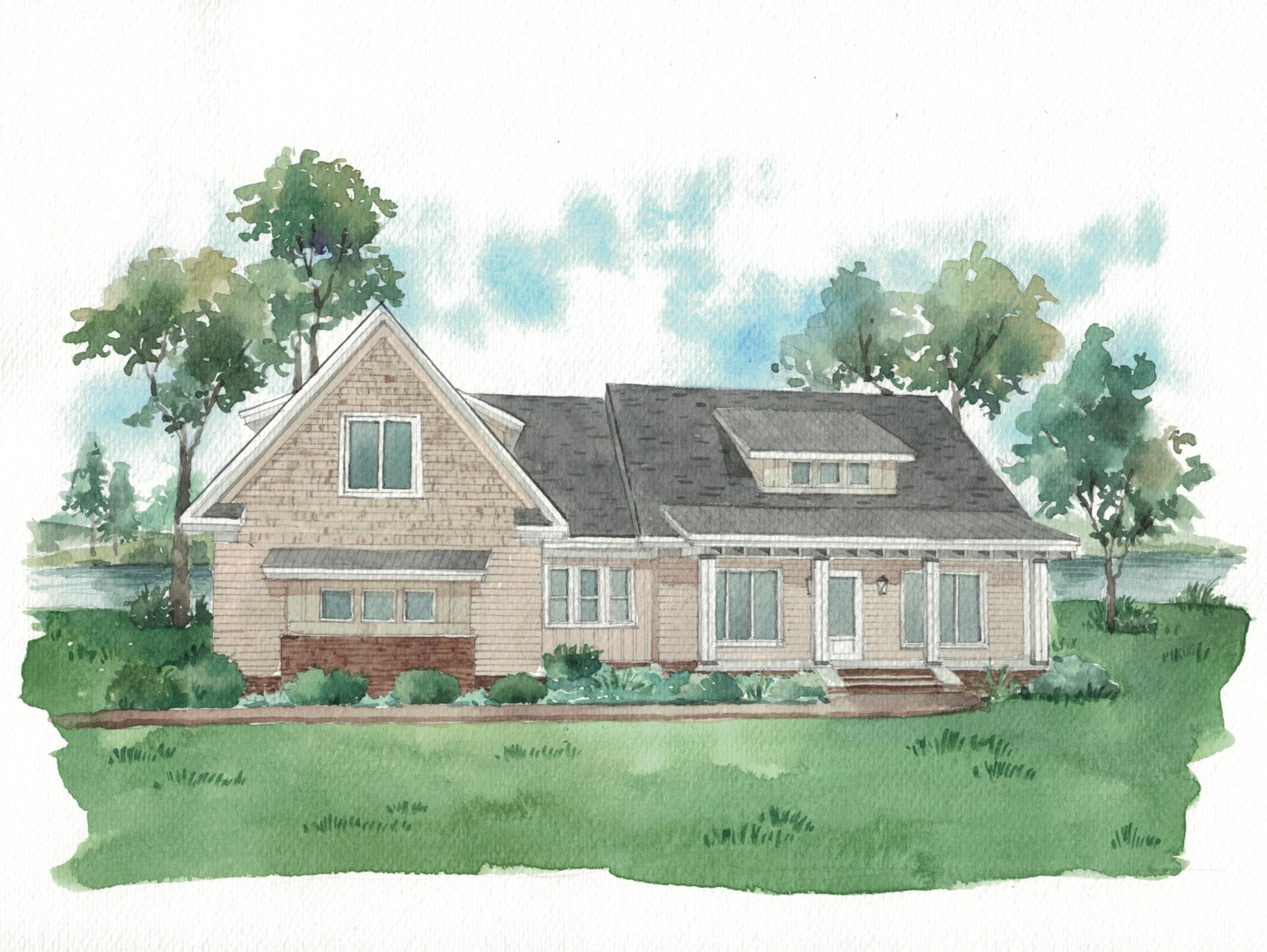 SOLD: Derbyshire Lakefront, new construction